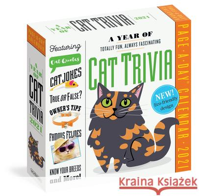 2021 a Year of Cat Trivia Color Page-A-Day Calendar Workman Publishing 9781523509096 Workman Publishing - książka