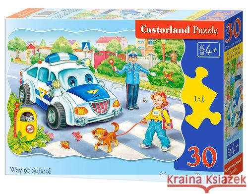 Puzzle konturowe Way to School 30  5904438003389