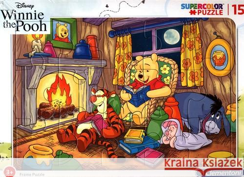 Puzzle ramkowe 15 SuperColor Winnie The Pooh  8005125222315