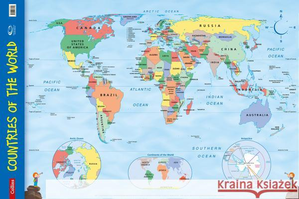 Countries of the World Wall Map Collins Maps 9780007536139