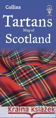 Tartans Map of Scotland  Collins Maps 9780008183707