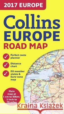 2017 Collins Map of Europe  Collins Maps 9780008203597