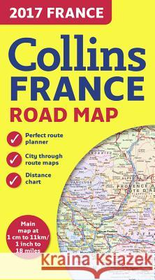2017 Collins Map of France  Collins Maps 9780008203603