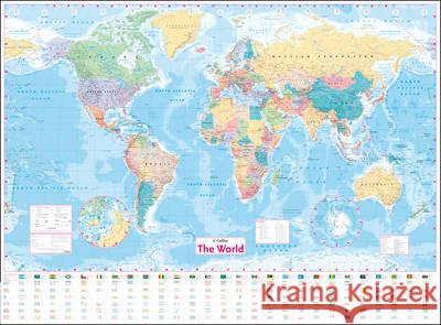 Collins World Wall Laminated Map  Collins Maps 9780008211561