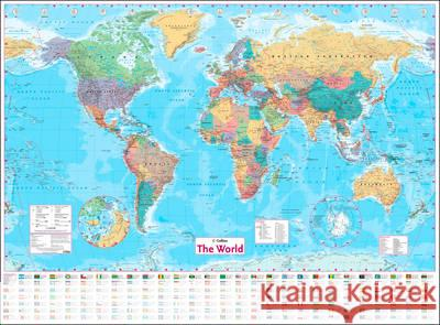 Collins World Wall Paper Map  Collins Maps 9780008211585