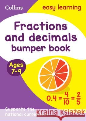 Fractions and Decimals Bumper Book: Ages 7-9 Collins UK 9780008212438