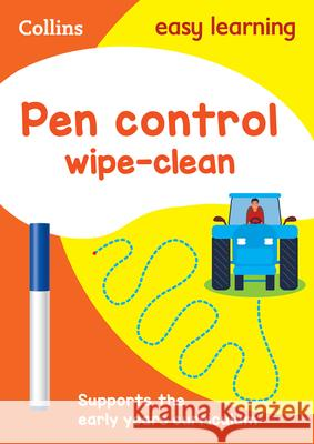 Pen Control Wipe-Clean Activity Book HarperCollins UK 9780008212902