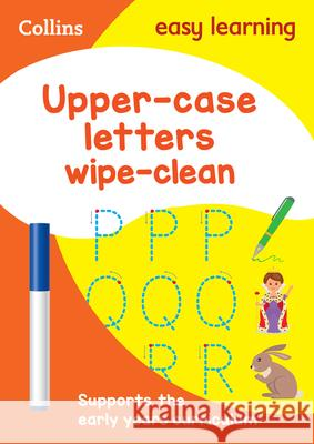 Upper Case Letters: Wipe-Clean Activity Book HarperCollins UK 9780008212919