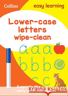 Lower-Case Letters: Wipe-Clean HarperCollins UK 9780008212926