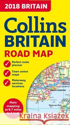 2018 Collins Map of Britain  Collins Maps 9780008214586