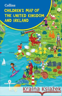 Children's Map Of The United Kingdom And Ireland  Collins Maps 9780008242183