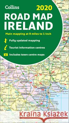 2020 Collins Map of Ireland Collins Maps 9780008318734