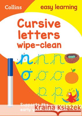 Collins Easy Learning Preschool - Cursive Letters Age 3-5 Wipe Clean Activity Book Collins Easy Learning 9780008335830