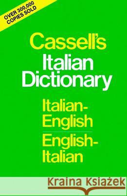Cassell's Standard Italian Dictionary, Thumb-Indexed Piero Rebora Cassell 9780025225404
