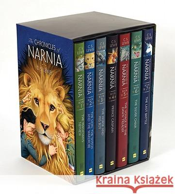 The Chronicles of Narnia Box Set: 7 Books in 1 Box Set C. S. Lewis Pauline Baynes 9780060244880 HarperCollins Publishers
