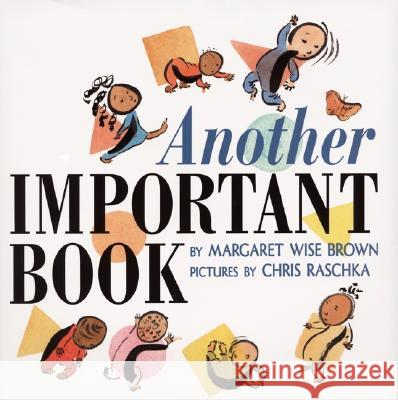Another Important Book Margaret Wise Brown Chris Raschka 9780060262822