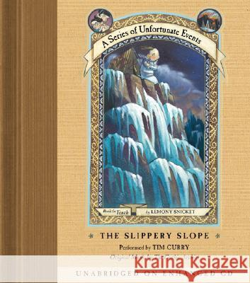 The Slippery Slope - audiobook Lemony Snicket Tim Curry Gothic Archies 9780060564414 Harper Children's Audio