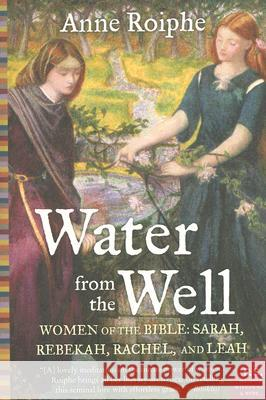 Water from the Well: Women of the Bible: Sarah, Rebekah, Rachel, and Leah Anne Roiphe 9780060737979