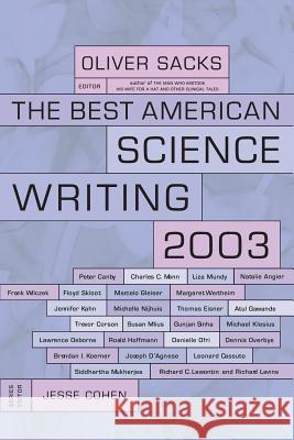 The Best American Science Writing Oliver W. Sacks Jesse Cohen 9780060936518