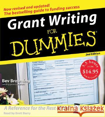 Grant Writing for Dummies - audiobook Bev Browning Brett Barry 9780061175909