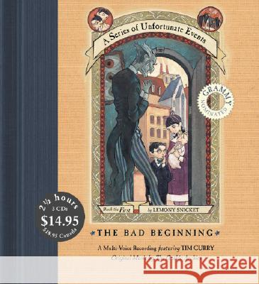 Series of Unfortunate Events #1 Multi-Voice CD, A: The Bad Beginning CD Low Price - audiobook Lemony Snicket Tim Curry 9780061365331