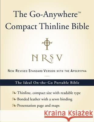 Go-Anywhere Compact Thinline Bible-NRSV-With Apocrypha Bibles Harper 9780061827211