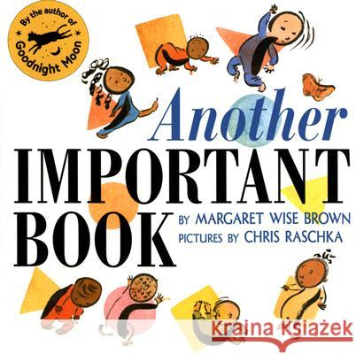 Another Important Book Margaret Wise Brown Chris Raschka 9780064437851