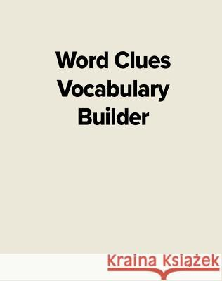Word Clues Vocabulary Builder Amsel Greene 9780065380309
