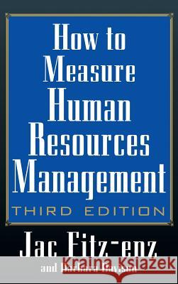 How to Measure Human Resource Management Jac Fitz-enz Barbara Davison 9780071369985