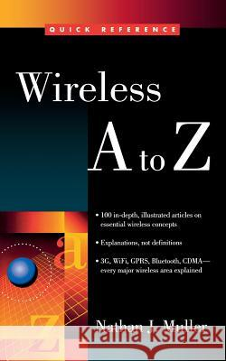 Wireless A to Z Nathan J. Muller 9780071410885