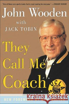 They Call Me Coach John Wooden Jack Tobin 9780071424912