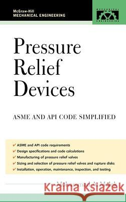 Pressure Relief Devices: Asme and API Code Simplified Mohammad A. Malek 9780071455374