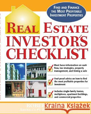Real Estate Investor's Checklist Robert Irwin 9780071456463