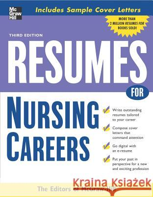 Resumes for Nursing Careers McGraw-Hill 9780071476201 McGraw-Hill Companies