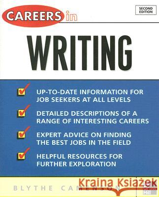 Careers in Writing Blythe Camenson 9780071482127