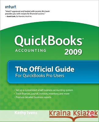QuickBooks 2009 the Official Guide Kathy Ivens 9780071598590