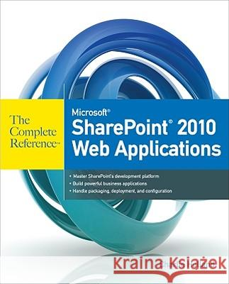 Microsoft SharePoint 2010 Web Applications Holland Charlie 9780071744560