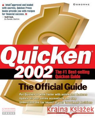 Quicken 2002: The Official Uide Maria Langer 9780072193916
