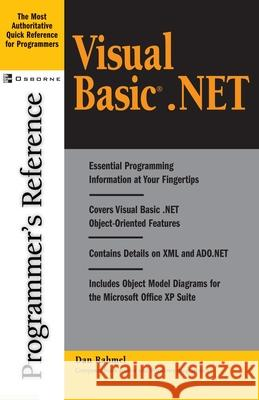 Visual Basic.Net Programmer's Reference Dan Rahmel 9780072195347