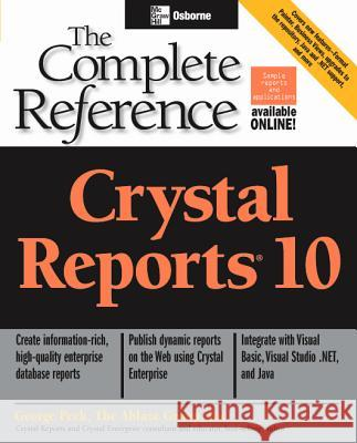 Crystal Reports 10 George Peck 9780072231663