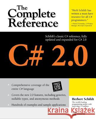 C# 2.0: The Complete Reference Herbert Schildt 9780072262094