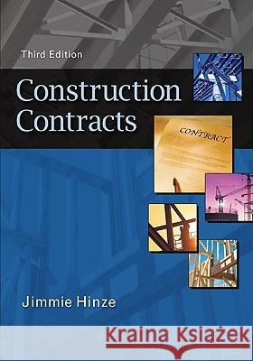 Construction Contracts Jimmie Hinze 9780073397856