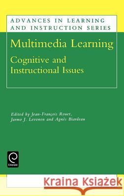 Multimedia Learning : Cognitive and Instructional Issues Rouet J- J-F Rouet A. Biardeau 9780080438542