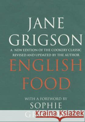English Food Jane Grigson 9780091770433