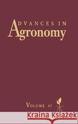 Advances in Agronomy Norman                                   Donald L. Sparks 9780120007479