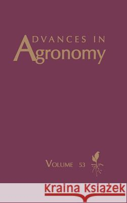 Advances in Agronomy Donald L. Sparks 9780120007530