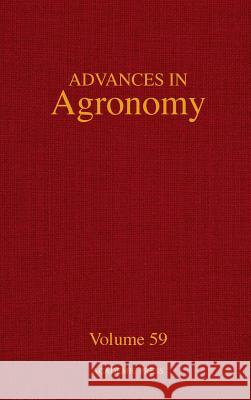 Advances in Agronomy Donald L. Sparks 9780120007592