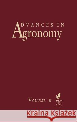 Advances in Agronomy Donald L. Sparks Sparks 9780120007615