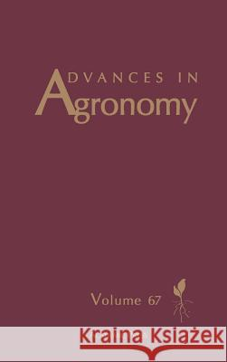 Advances in Agronomy Donald L. Sparks Donald L. Sparks 9780120007677
