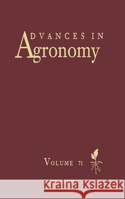 Advances in Agronomy Donald L. Sparks 9780120007714